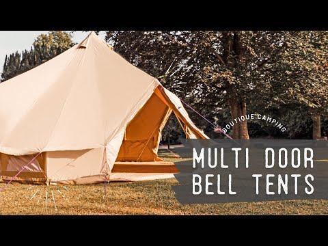 Bell Tent XL 7m Sandstein Rundzelt mit Reißverschluss-Bodenplane