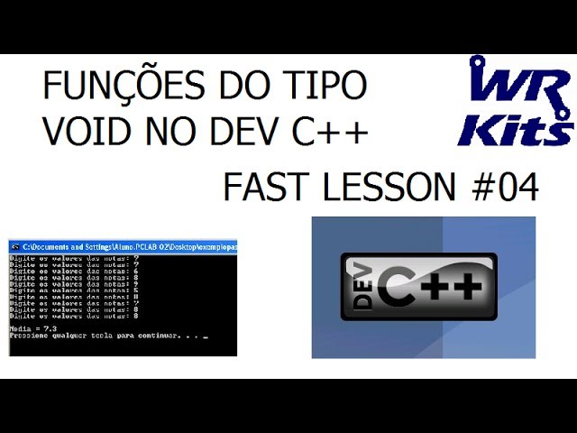 FUNÇÕES DO TIPO VOID NO DEV C++ | Fast Lesson #04