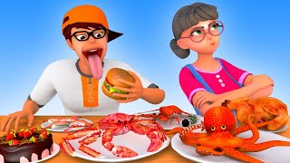 Hot Little Nick and Cold Little Nick Mukbang - Scary Teacher 3D |VMAni Funny|