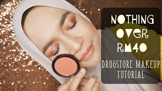 NOTHING OVER RM40 |  Full Face Drugstore Makeup | Simple Warm Eyes Edition