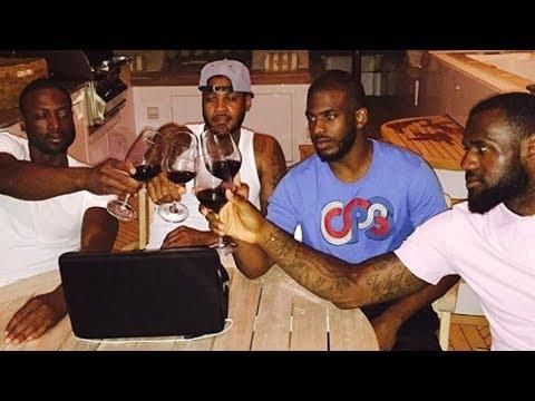 Dwyane Wade & LeBron James DEFEND Carmelo Anthony Against The Houston Rockets!