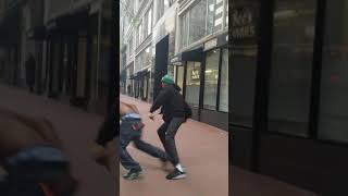 Brawl in Front of Cops in SF and They Just Stand There