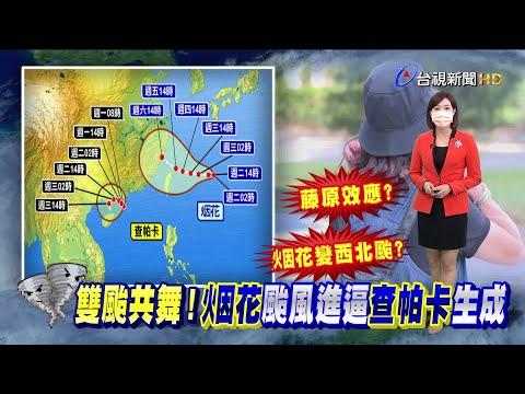 """烟花路徑難預測! 關鍵看""""太平洋高壓強度"""""""