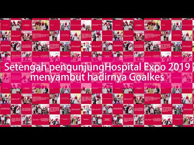 Goalkes Hadir meramaikan acara Hospital Expo 2019 Jakarta convention center