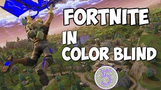 FORTNITE IN COLOR BLIND MODE