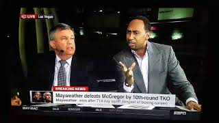 Teddy Atlas And Stephen A Smith Yelling At Each Other About Fast Food #MayweathervMcgregor
