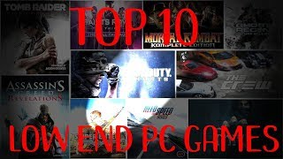 Top 10 Low End PC GAMES ||SKTECHTOOLS||
