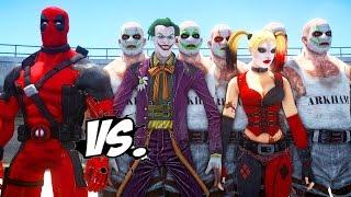 DEADPOOL VS JOKER & HARLEY QUINN - EPIC SUPERHEROES BATTLE | DEATH FIGHT