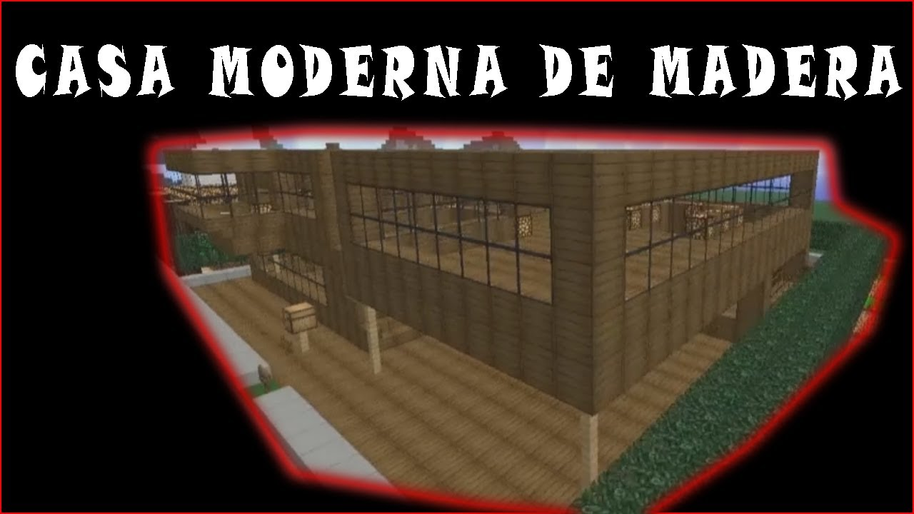 Minecraft casa moderna de madera youtube for Casa moderna minecraft 0 10 4