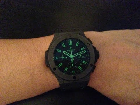 Baixar Hublot Big Bang All Black Green Limited Edition Chronograph Watch Review Authentic