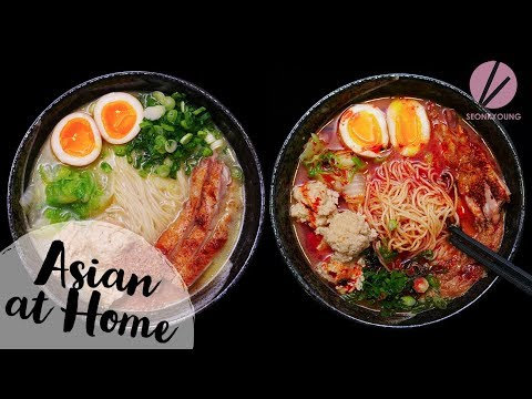 Spicy and Creamy Chicken Ramen!