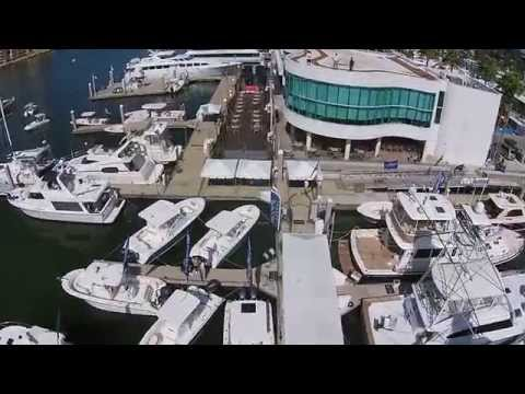 Aerial Footage of the 2014 Bayfront Boat Show Line-up