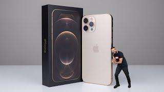 iPhone 12 Pro Max GOLD Unboxing + Size Comparison