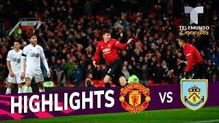 Manchester United vs. Burnley: 2-2 Goals & Highlights | Premier League | Telemundo Deportes