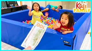 24 hrs in the Ball Pit Challenge Wins with Ryan Emma and Kate!!!