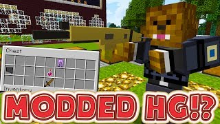 MINECRAFT OVERPOWERED WEAPONS MODDED HUNGER GAMES - MINECRAFT MOD CHALLENGE #2