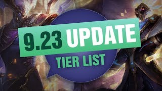 UPDATED Mobalytics Patch 9.23 Tier List New OP Champions and Q&A - League of Legends