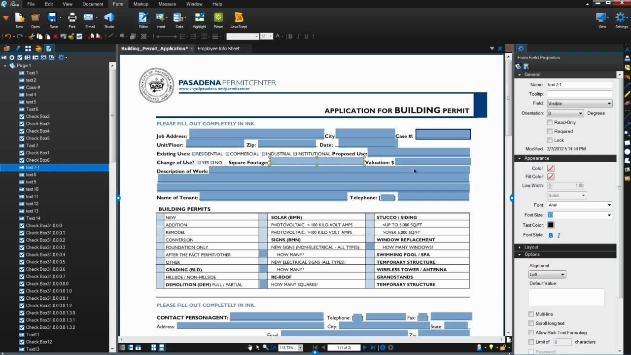 Php form validation pdf writer