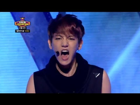 EXO - Wolf, 엑소 - 늑대와 미녀, Show Champion 20130703