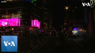 New York City Power Outage Darkens Broadway, Times Square