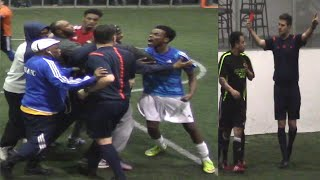 Referee Assaulted 🤛, Multiple Red Cards ♦️, Buzzer Beater Goal ⚽︎ & Out of Control Ending Fights! 😲