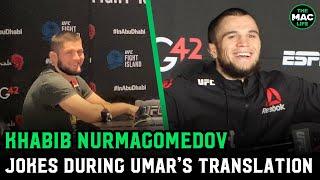 Khabib Nurmagomedov jokes Umar Nurmagomedov can't understand if Khabib should fight again