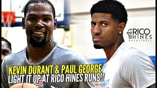 Kevin Durant & Paul George LIGHT IT UP at Rico Hines Private Runs!! Warriors Trio Looking Nice!