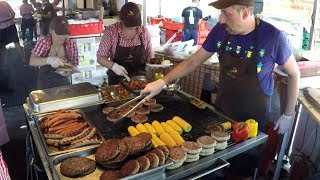 Massive Dose of Meat on Grill. Street Food from Sud Tirol, Italy