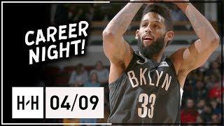 Allen Crabbe Full Career-HIGH Highlights Nets vs Bulls (2018.04.09) - 41 Points!