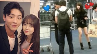 Kim so hyun 💞 ji soo spotted together 💞 SoSo couple is real? River where the sun rises BTS.