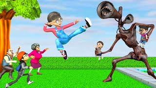 Scary Teacher 3D - Tani rescues her son, daughter from the Siren head |VMAni Funny|