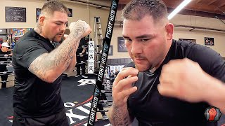 ANDY RUIZ JR SHOWS THE FASTEST HANDS AT HEAVYWEIGHT! DISPLAYS SPEED & WEIGHT LOSS DURING WORKOUT