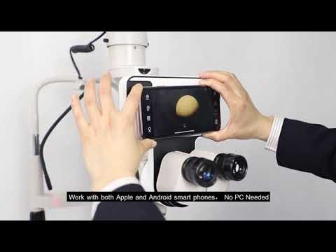 Digital Slit Lamp Imaging Module Utilizing Smart Phone to Take Picture or Video