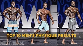 (HIGH QUALITY) TOP 10 Mr Olympia 2017 Men's Physique Results - Full Posing