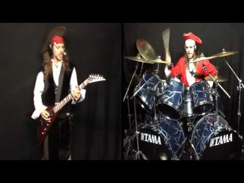 Alestorm - The Sunk'n Norwegian (Drums & Guitar cover) [HD]