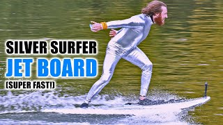 DIY Silver Surfer Surfboard goes SUPER FAST!