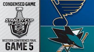 05/19/19 WCF, Gm5: Blues @ Sharks