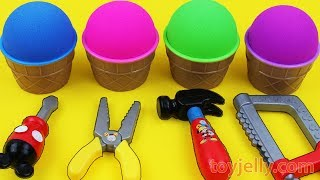 Kinetic Sand VS Mad Matter Kinetic Sand Ice Cream Surprise egg Kinder Surprise Toys Fun for Kids