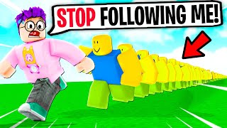 Can We Go MAX LEVEL In ROBLOX NOOB TRAIN!? (FUNNY ROBLOX GAME!)