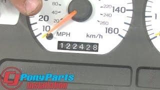 Mustang Odometer Gear Repair Kit 1994-1998 Installation