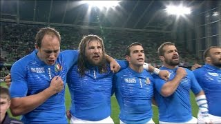 Italy sing passionate national anthem at  RWC 2011!