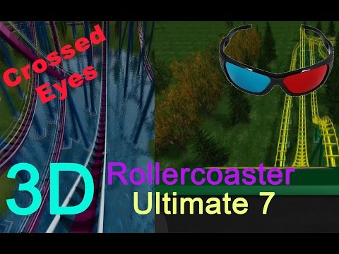 3D Rollercoaster: Ultimate 7 (3D for PC/3D phones/3D TVs/Crossed Eyes)