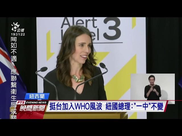 紐國副總理「個人」挺台入WHO 卻遭中國警告