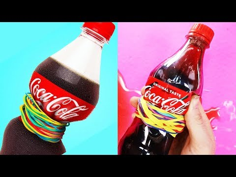 Trying LIFE HACKS WITH COCA COLA By 5 Minute Crafts