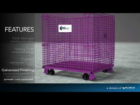 video JUNIOR WIRE CONTAINER 20 X 32 X 22