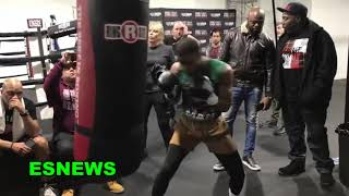 Errol Spence POWER on heavy bag - EsNews Boxing