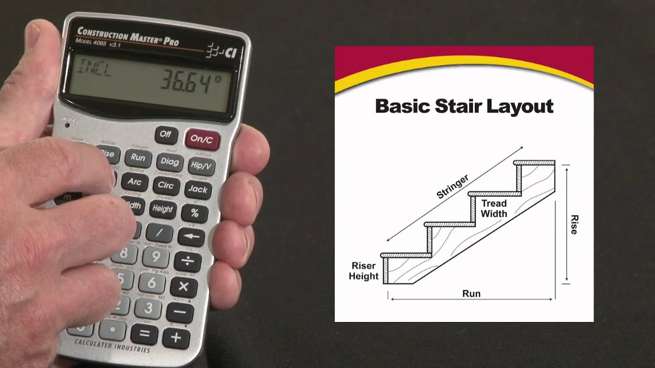 Construction Master Pro Trig Basic Stair Layout How To
