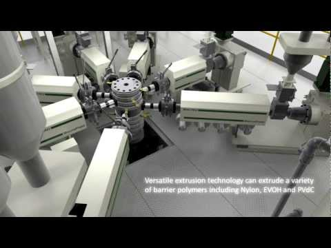 Double-Bubble Barrier Film Extrusion Line.mp4