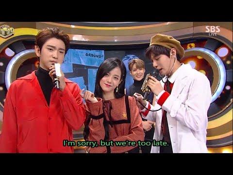 [ENG] JINJIDO moments MC Inkigayo (Sep-Nov) Jisoo Jinyoung Doyoung GOT7 Blackpink NCT127 (진지도)