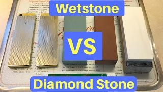 "Diamond Stone VS Wetstone  ""UNDER THE MICROSCOPE"""